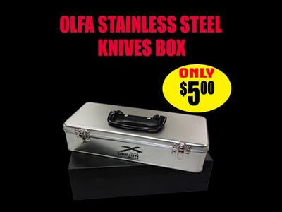 Olfa Stainless Steel Knives Box