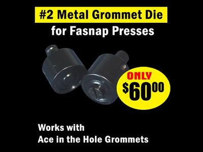 #2 Metal Grommet Die for Fastnap Press