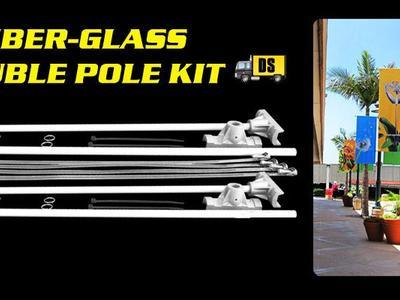 Pole Banner Double Kit Fiber-Glass
