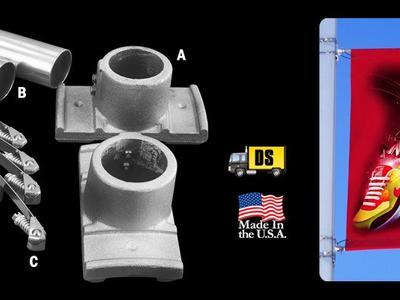 HD Pole Banner Single Kit – Aluminum 1.66″