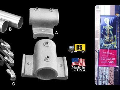 HD Pole Banner Double Kit – Aluminum 1.66″
