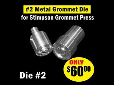 #2 Metal Grommet Die for Stimpson Press